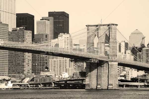 New York City pont Manhattan gratte-ciel Photo stock © rabbit75_sto