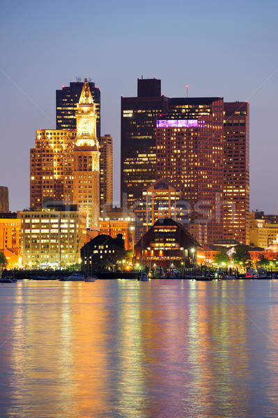 Бостон городского зданий центра сумерки Сток-фото © rabbit75_sto