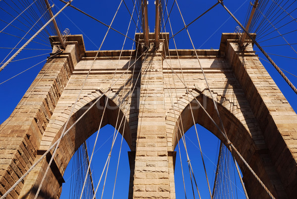 New York City Brooklyn Bridge closeup Stock photo © rabbit75_sto
