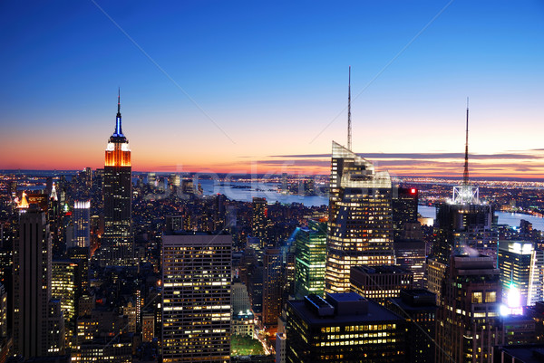 New York City Manhattan skyline aerial view Stock photo © rabbit75_sto