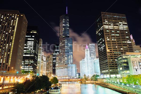 Chicago rio andar urbano arranha-céus Foto stock © rabbit75_sto