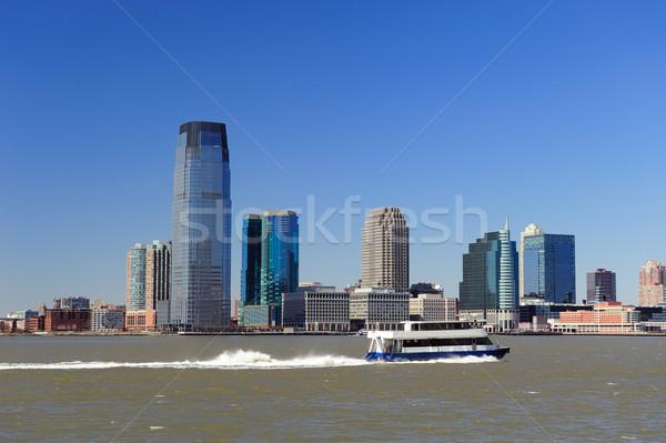 New Jersey skyline New York City Manhattan centrum panorama Stockfoto © rabbit75_sto