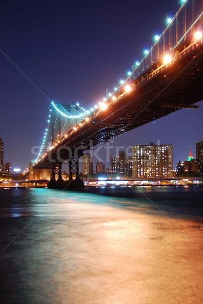 Manhattan Bridge over Hudson River Stock photo © rabbit75_sto