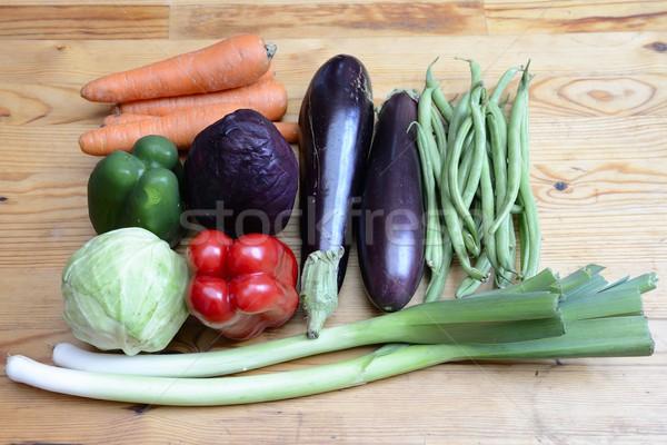 Légumes bois fruits jardin groupe marché Photo stock © rabel