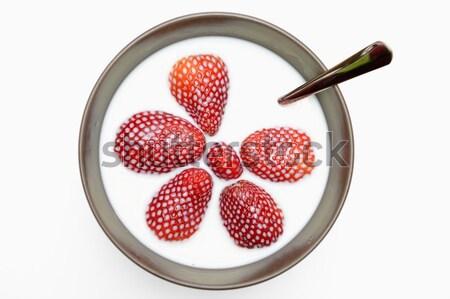 клубники молоко продовольствие дизайна фрукты здоровья Сток-фото © rabel