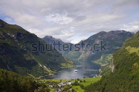 Ciel route nature paysage fond beauté Photo stock © rabel
