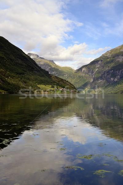 небе воды дороги пейзаж красоту зеленый Сток-фото © rabel