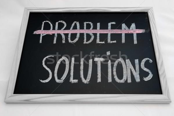 Problème solutions affaires école lumière fond Photo stock © rabel