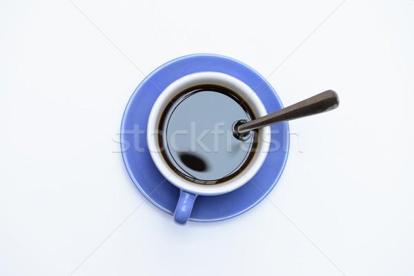 Bleu tasse café boire thé noir Photo stock © rabel
