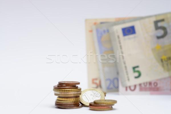 евро монетами деньги банка финансовых Сток-фото © rabel