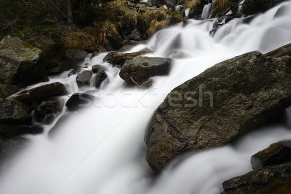 водопада свет рок каменные реке черный Сток-фото © rabel