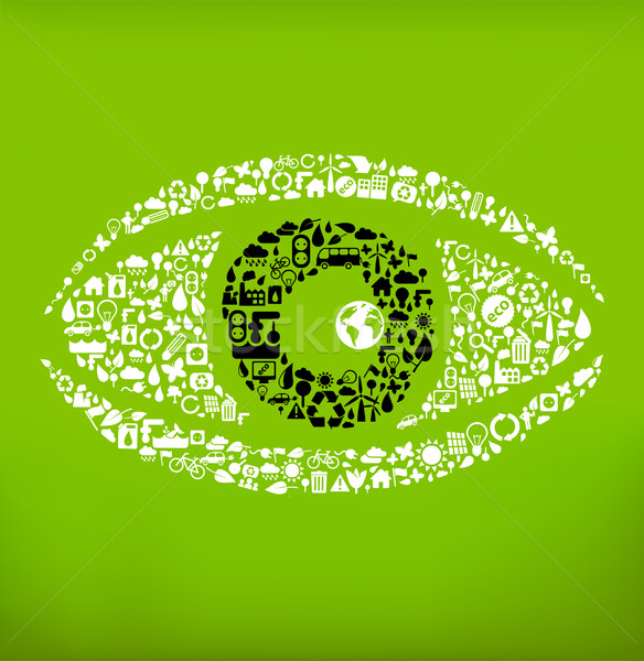 global ecology concept - 'open your eyes' Stock photo © radoma