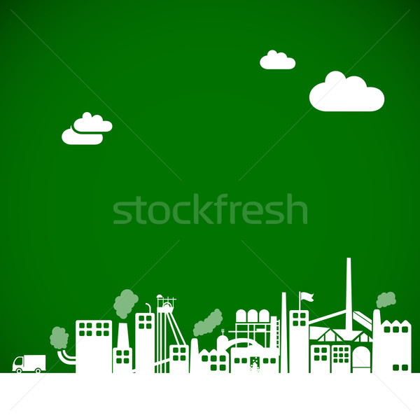 Ecology background - industrial concept Stock photo © radoma