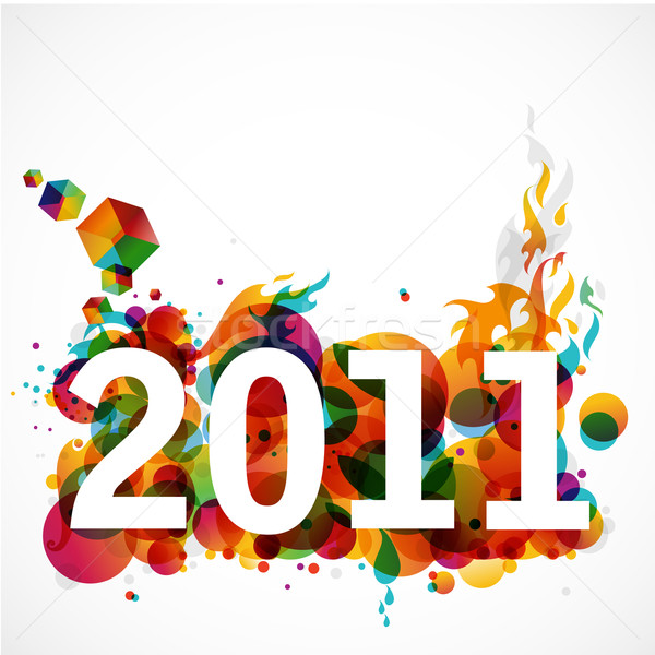 new year 2011 funky graphic design Stock photo © radoma