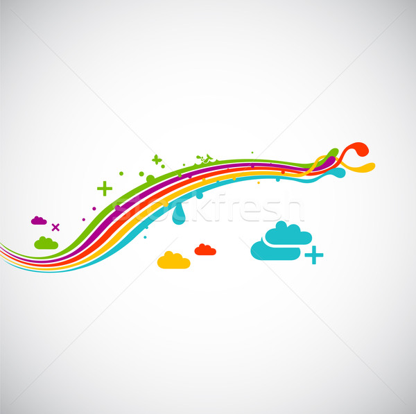 rainbow eco funky design element Stock photo © radoma