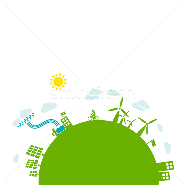 Green energy - sustainable development concept Stock photo © radoma