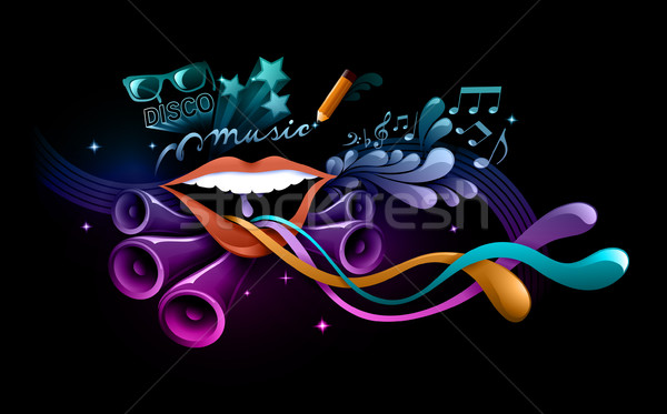 funky music illustration Stock photo © radoma
