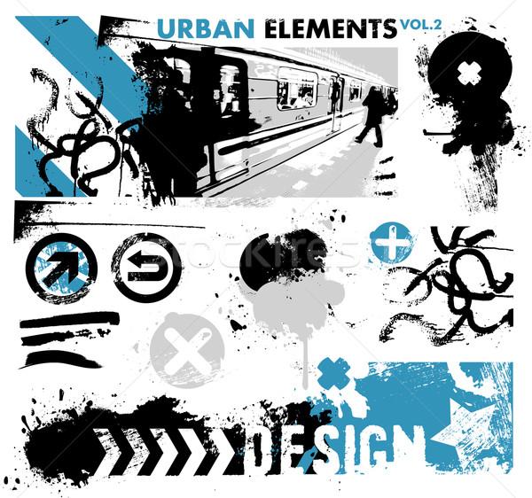 Urbano projeto elementos sujo ver cidade Foto stock © radoma