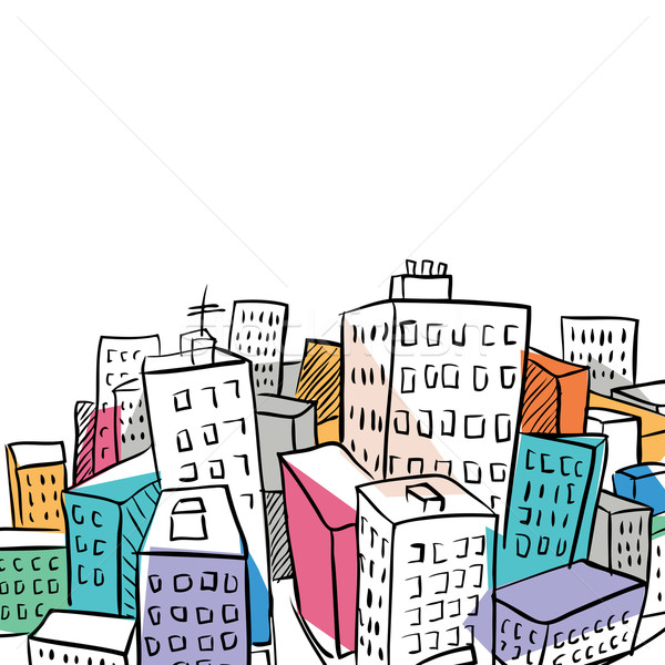 city illustration 2 Stock photo © radoma