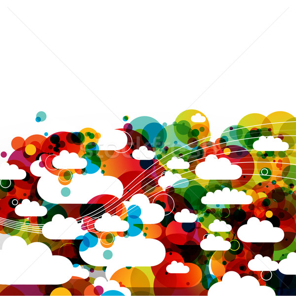 funky abstract clouds Stock photo © radoma