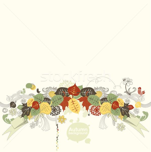 Kreatív ősz textúra absztrakt természet terv Stock fotó © radoma