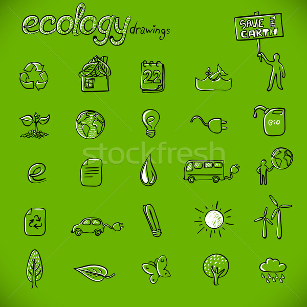 ecology drawings Stock photo © radoma