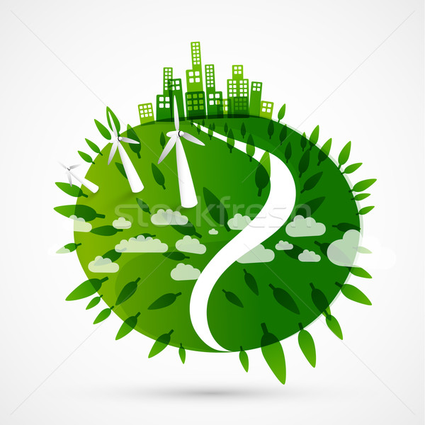 abstract green world illustration Stock photo © radoma