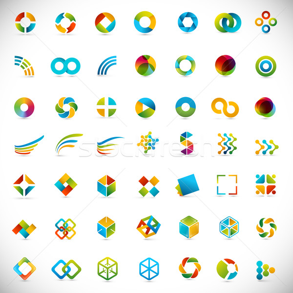 49 logo design / elements set - creative symbols Stock photo © radoma