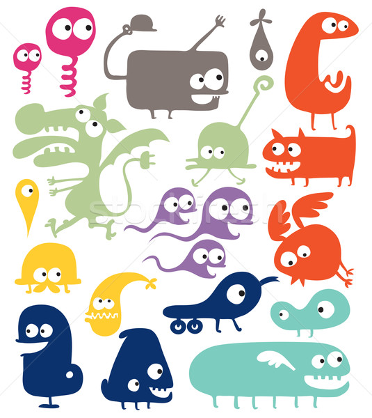 different abstract creatures - doodle illustration Stock photo © radoma