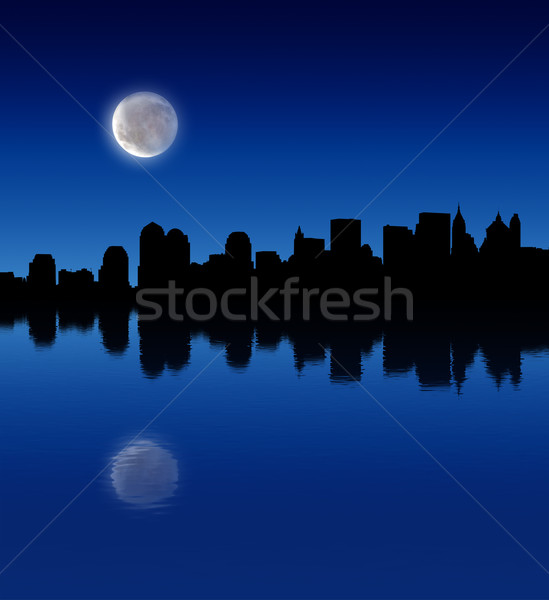 full moon over the city Stock photo © radoma