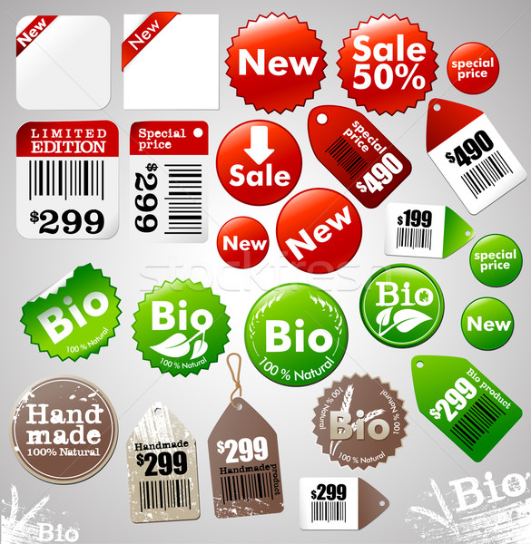Sale icons & labels Stock photo © radoma