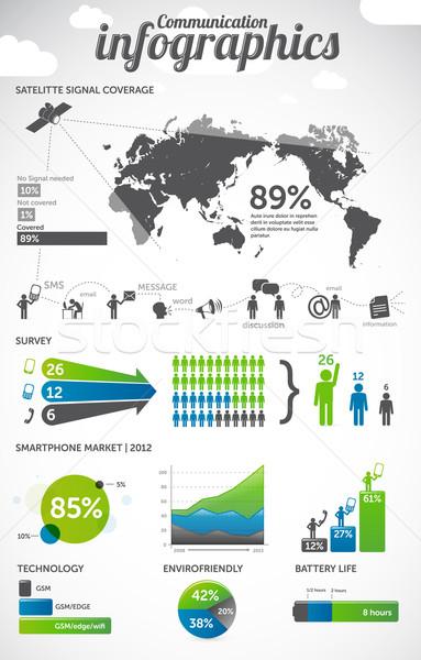Comunicazione informazioni grafica infografica computer telefono Foto d'archivio © radoma