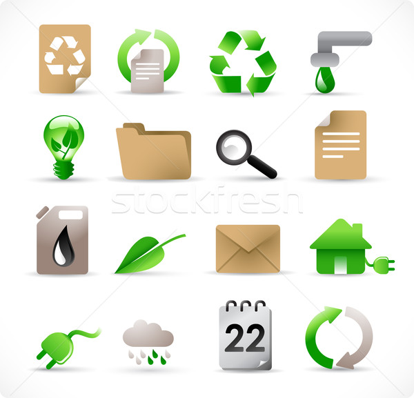 ecology icons 1 Stock photo © radoma