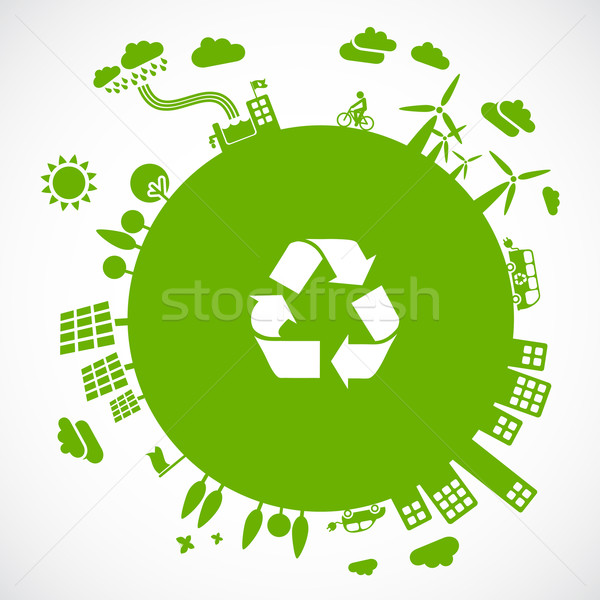 green earth - sustainable development concept Stock photo © radoma