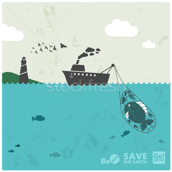 Balık tutma sanayi eco dengelemek su Stok fotoğraf © radoma