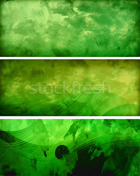 green abstract banners Stock photo © radoma
