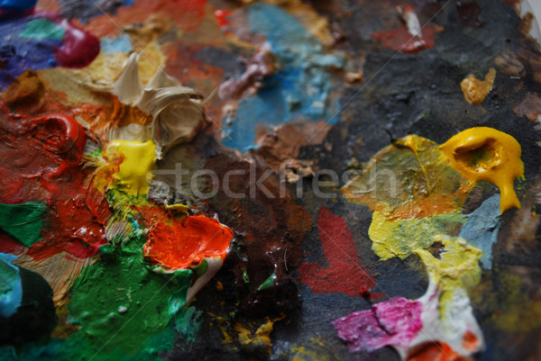 colors on palette Stock photo © radoma