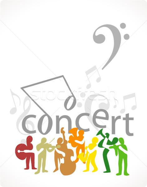 Zene poszter férfi absztrakt koncert zenekar Stock fotó © radoma