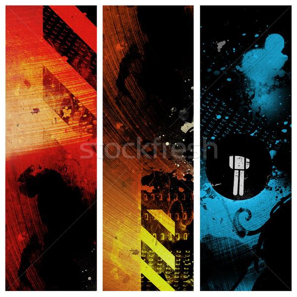 Kentsel afişler doku sokak kulüp siyah Stok fotoğraf © radoma