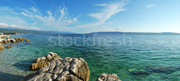 Mer panorama Croatie nature bateau horizon Photo stock © radoma