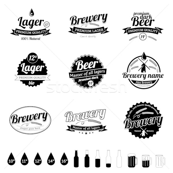 Collection of Beer / Brewery Labels - vintage design Stock photo © radoma