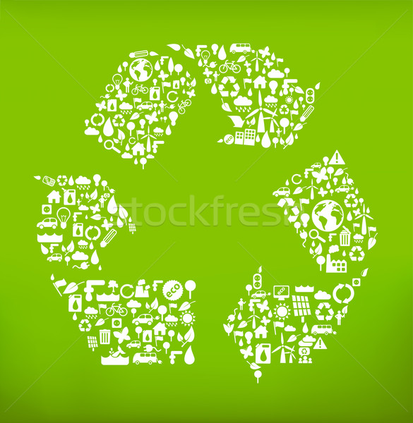 recycle symbol Stock photo © radoma