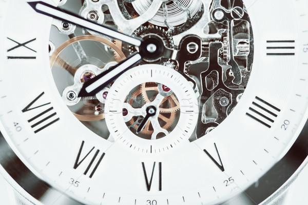 Automatisch mannen horloge zichtbaar mechanisme business Stockfoto © radub85