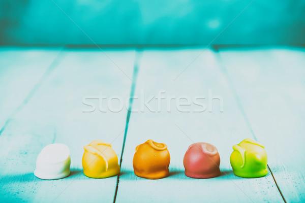 Coloré bonbons texture gâteau rétro studio Photo stock © radub85