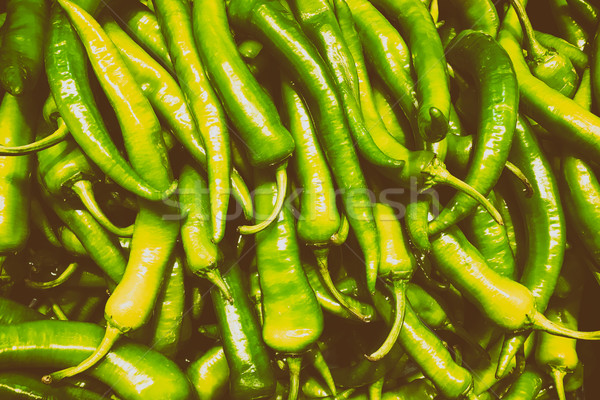 Capsicum In Vegetable Market Display Stock photo © radub85