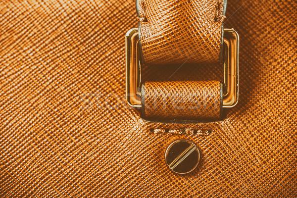 Brun cuir femme sac main Photo stock © radub85