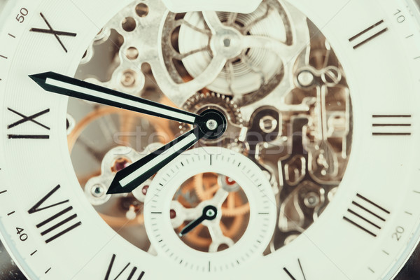 Automatic Men Watch With Visible Mechanism Stock photo © radub85