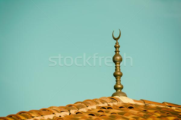 Islamic Religion Crescent Moon Sign On Mosque Stock photo © radub85