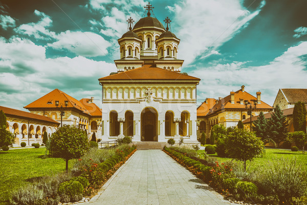 The Coronation Cathedral In Alba Iulia, Romania Stock photo © radub85