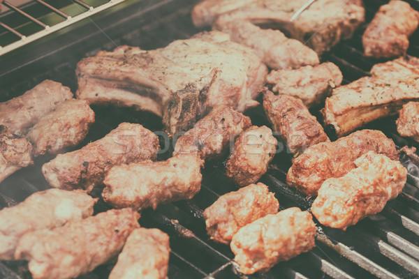 традиционный румынский барбекю свинина мяса Сток-фото © radub85